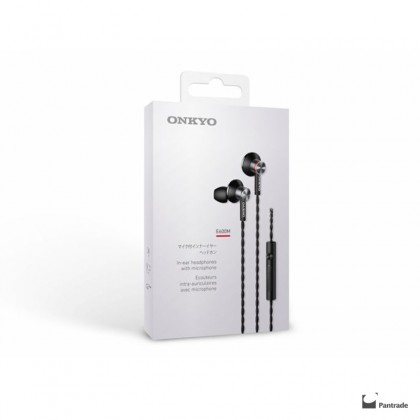 Onkyo E600MB In-Ear Stereo earphones with Microphone Black