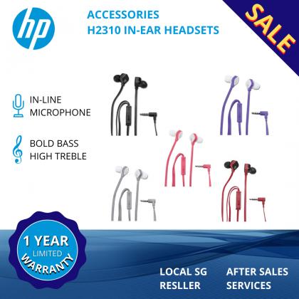 HP H2310 In-Ear Headset (Black/White/RedBlack/Coral/Purple)