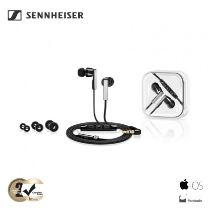 Sennheiser CX 5.00i In-Ear Headphones with Integrated Mic & Remote for iOS Devices (Black)
