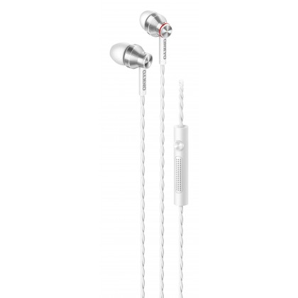 Onkyo E300MB In-Ear Headphones with Microphone (Black/White)