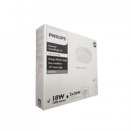 Philips Essential LED SmartBright Surface Mount Downlight 18W 3000K